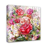 Картина Симфония 0107 Букет роз; 30*30 см