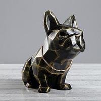"""Статуэтка """"Собака оригами"""" черно-золотая   4451434"""
