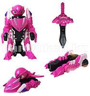 Игрушка детская Монкарт дракон машинка битроид Пикси розовый HT014
