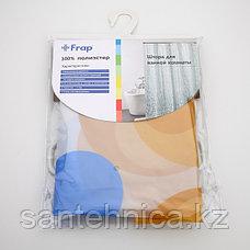 FRAP F8804 Шторка для ванны 180*180 полиэт. Рисунок, фото 3