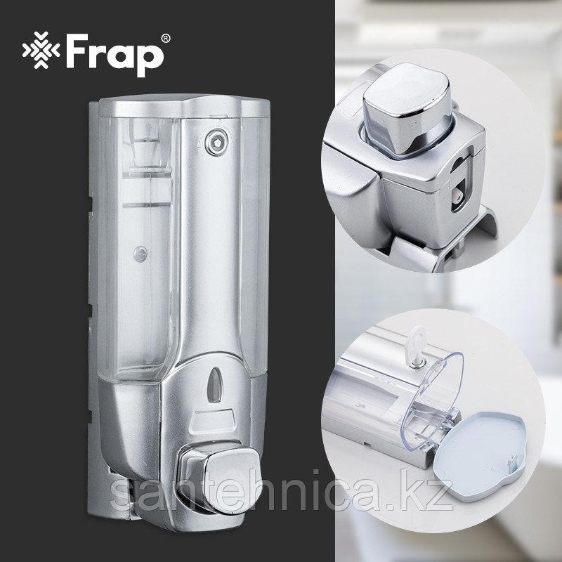 FRAP F407 Дозатор для жидкого мыла матовый пластик прозрачный 360 мл