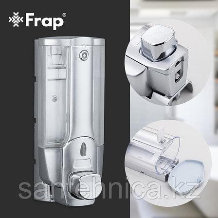 FRAP F407 Дозатор для жидкого мыла матовый пластик прозрачный 360 мл, фото 2