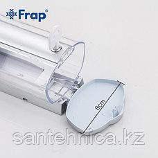 FRAP F407 Дозатор для жидкого мыла матовый пластик прозрачный 360 мл, фото 3