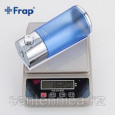 FRAP F406 Дозатор для жидкого мыла пластик синий 400 мл, фото 3