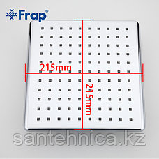 FRAP F001-20 Лейка для тропического душа 200*200 мм хром, фото 2