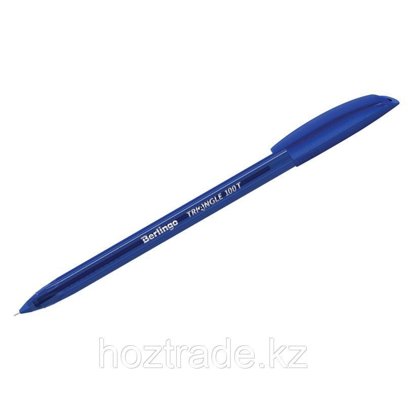 """Ручка шариковая Berlingo """"Triangle 100T"""" синяя, 0,7мм, трехгран., игольчатый стержень"""