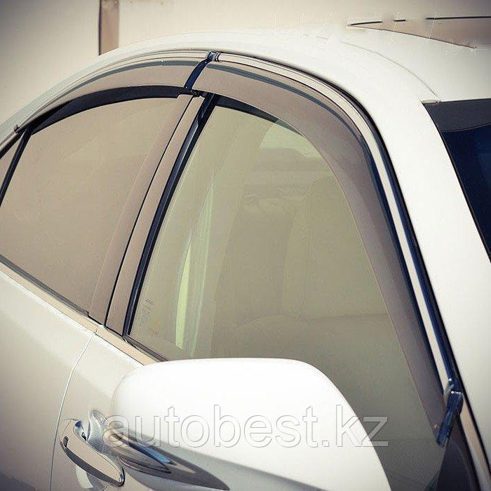 Ветровики на Volkswagen Touareg /дефлекторы боковых окон на Вольксваген Туарег