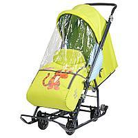 Санки коляска Ника Disney baby 1 Тигруля лимонный