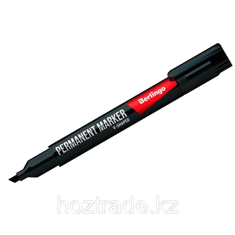 Маркер перманентный Berlingo черный, скошенный, 0.5-4 мм