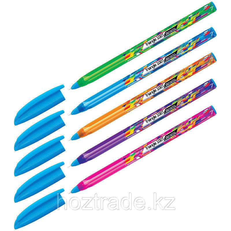 """Ручка шариковая Berlingo """"Trangle 1001 Elements"""", синяя, 0,7 мм, игольчатый стержень"""