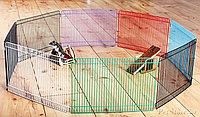 Вольер металл окрашенный,для мелких животных, из 8 соединительных элементов,размер 34×23см