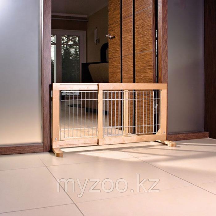 Дверь-перегородка для щенков и маленьких собак,63-108*50*31см