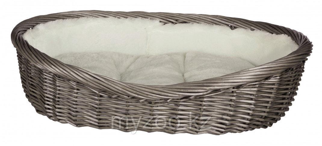 Корзина плетенная для собак. с подкладкой и подушкой.,Длина 50 см.