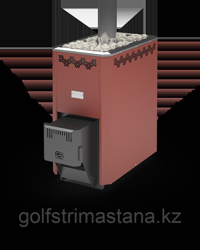 Печь угольная для бани и сауны Кузбасс Оптима-20 ТК