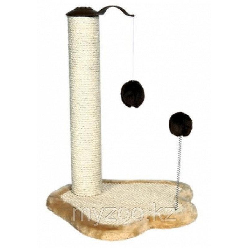 Когтеточка для кошек, с игрушкой на пружине,41 × 38 cm, высота 50 cm