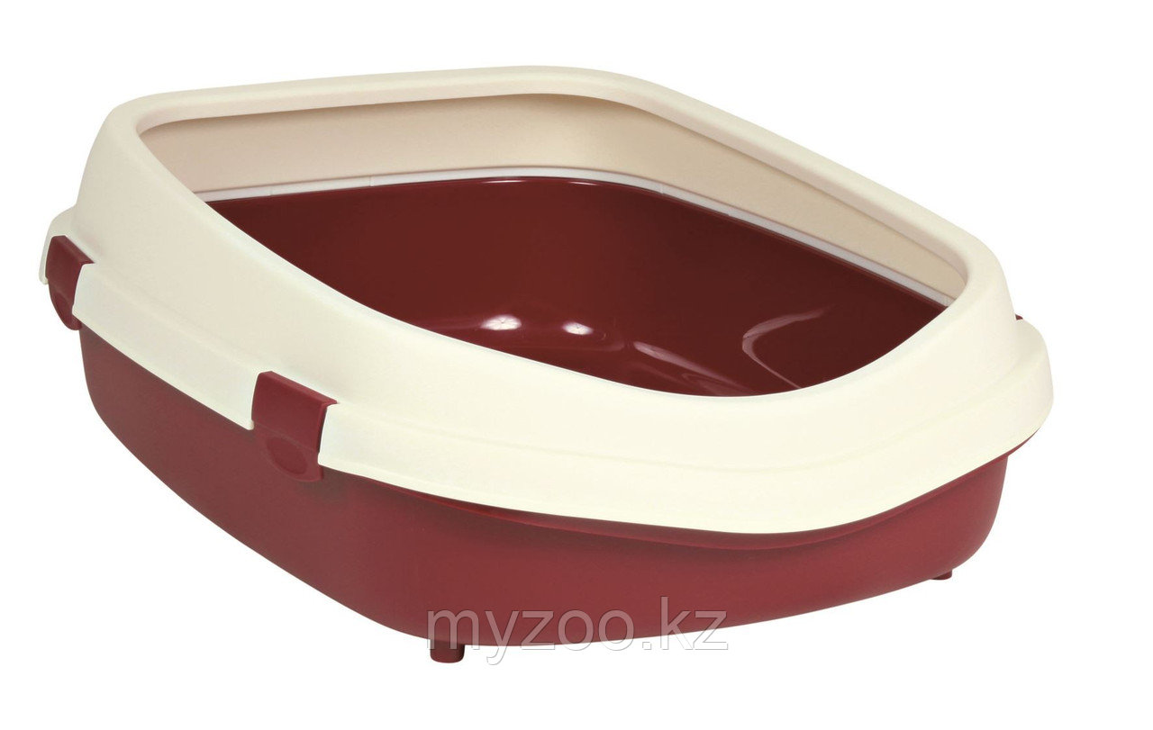 Туалет пластиковый для крупных пород кошек,с высоким бортом, размер 56×25×71см.