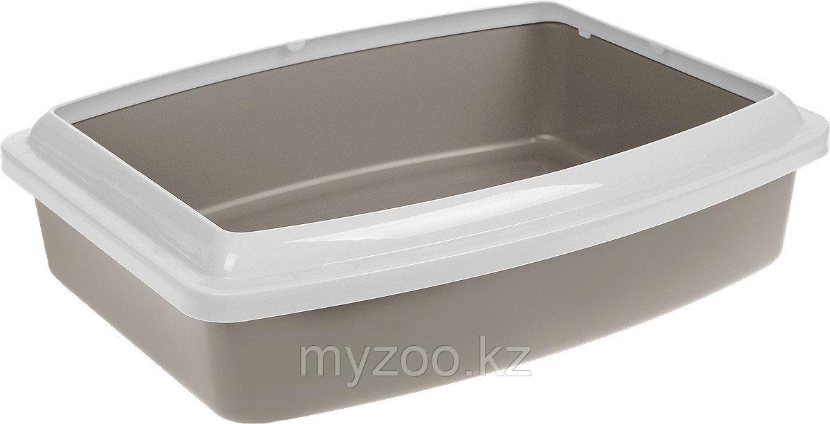 Кошачий туалет Classic с бортиком. 37 × 15 × 47 cм.