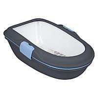 Туалет пластиковый для кошек,система гигиенического разделения,экономит наполнитель,размер 39×22×59см.