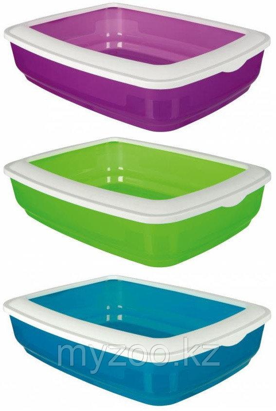 Туалет Мио пластиковый для небольших кошек и котят, с бортиком, р-р 32 × 12 × 43 см