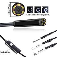 USB эндоскоп для смартфонов планшетов и PC водонепроницаемая камера 5.5 мм, фото 1