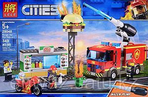 Конструктор Lele Cities Пожар в бургер-кафе