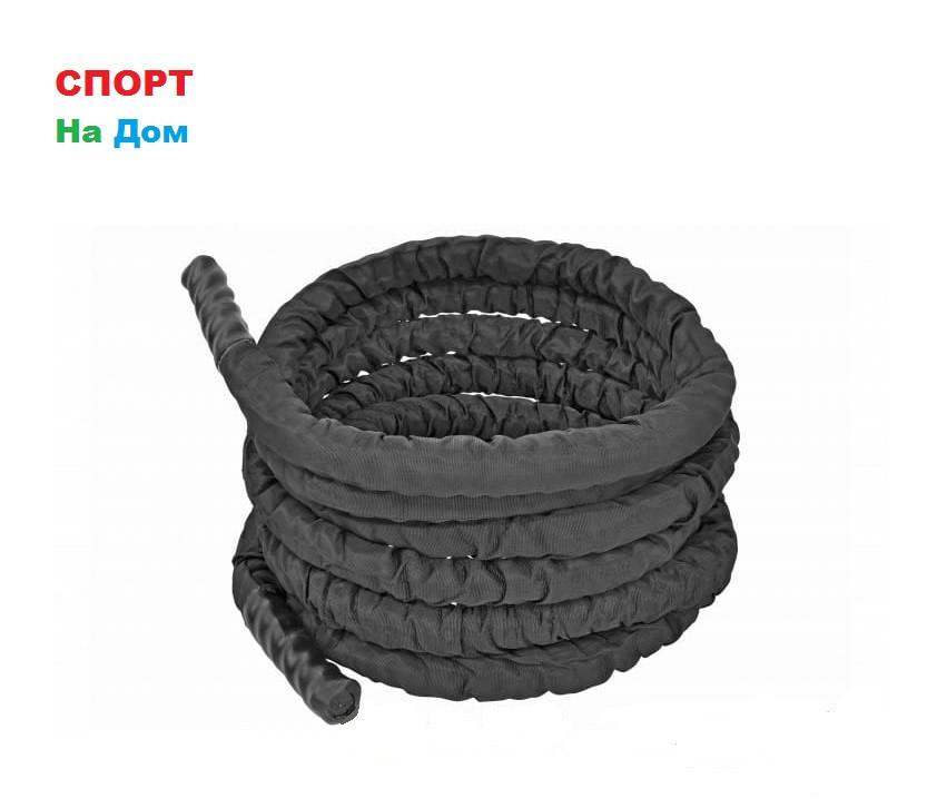 Черный канат силовой в чехле (диаметр 38 мм) 9 метров