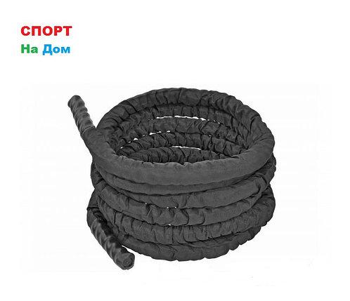 Черный канат силовой в чехле (диаметр 38 мм) 9 метров, фото 2