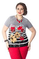 Яркая женская блузка. Россия. Wisell. 54 и 58 размеры.