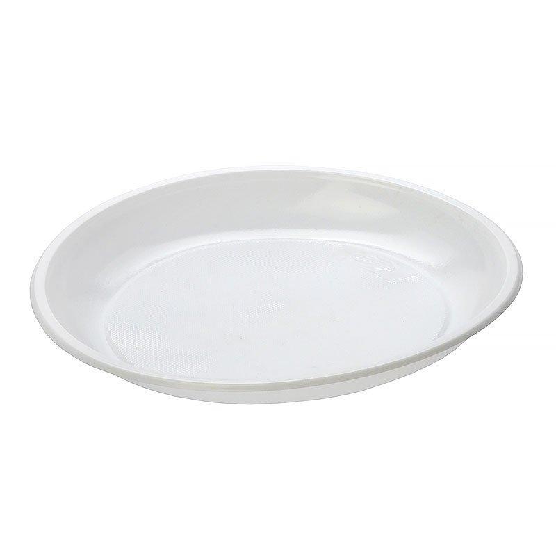 Тарелка дес., d 165мм, бел., ПП, 1400 шт