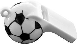"Свистки ""Футбол"", пластик, 5 шт"