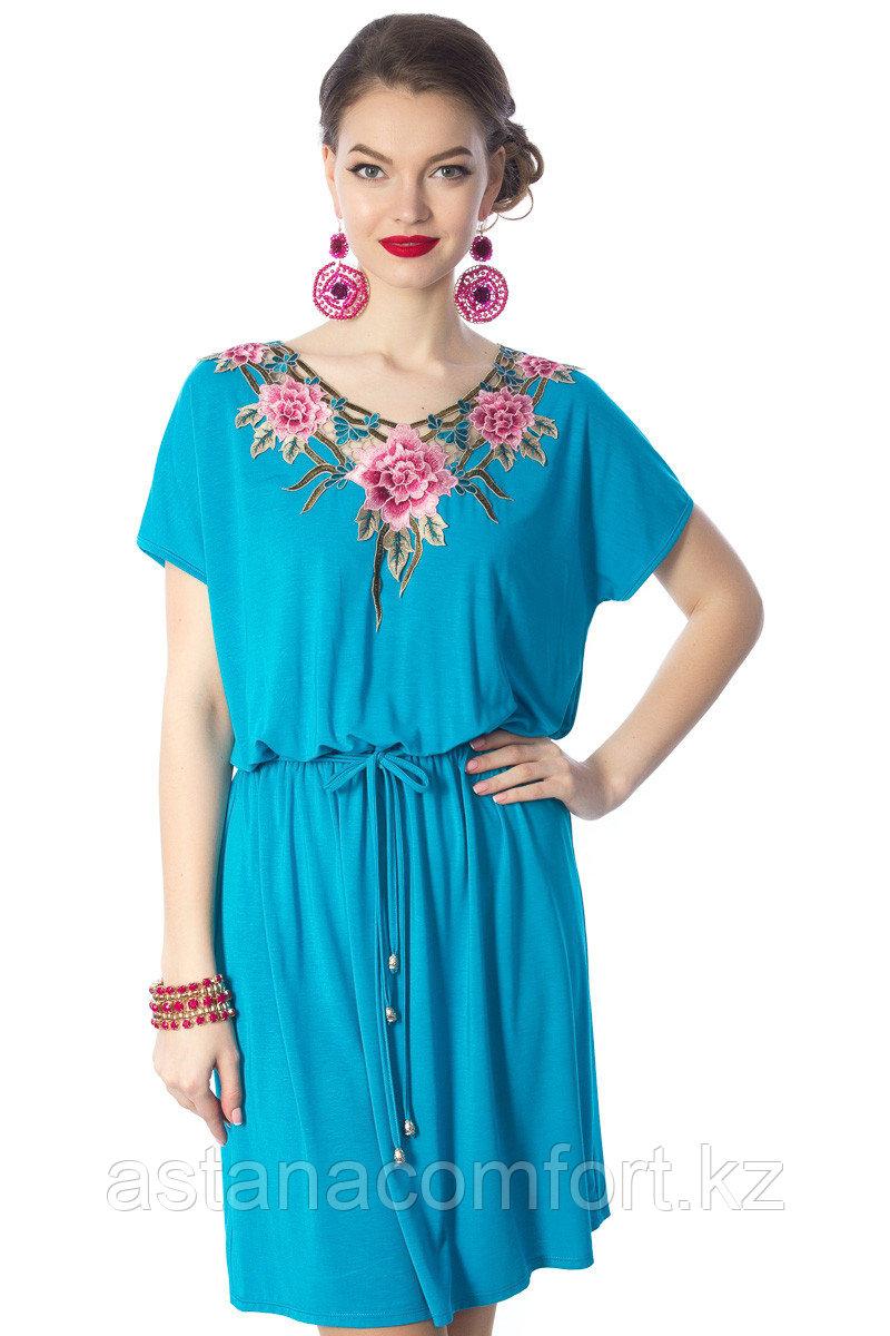 Яркое женское летнее платье. Размеры: 42, 44. 46
