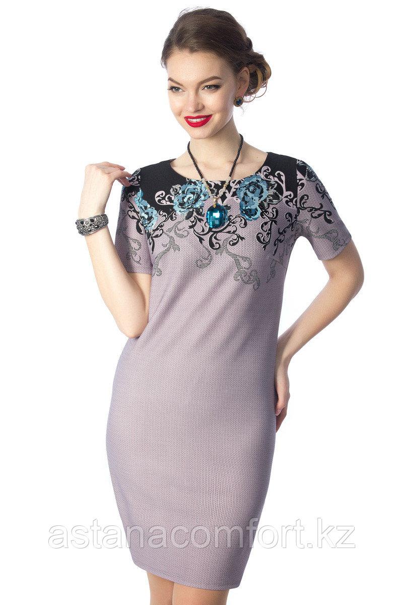 Женское платье прямого силуэта. Размеры - 44, 46, 54, 56, 58.
