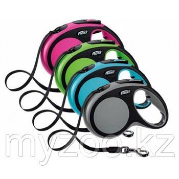 Поводок-рулетка Flexi New Comfort, лента, 60 кг, 5 м. цвет розовый
