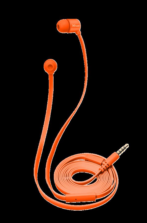 TRUST DUGA IN-EAR Наушники-вкладыши - оранжевый неон