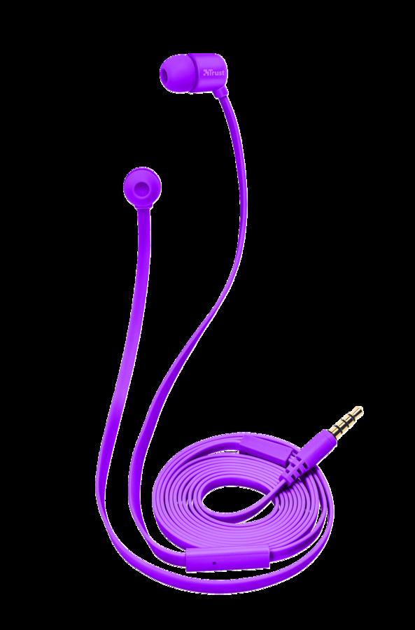 TRUST DUGA IN-EAR Наушники-вкладыши - пурпурный неон