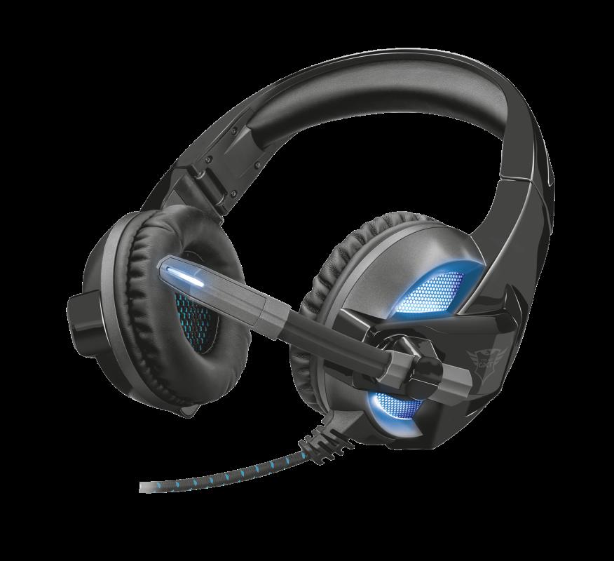 Trust GXT 410 Rune Illuminated Headset Наушники гарнитура игровая с подсветкой