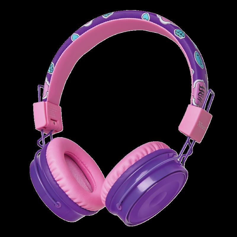 Trust Comi Bluetooth Наушники-накладные беспроводные фиолетовый