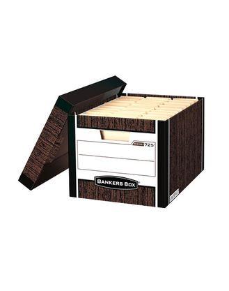 Архивный короб Bankers Box Woodgrain сборка FastFold™, 325x285x385 мм (внутр), гофрокартон»