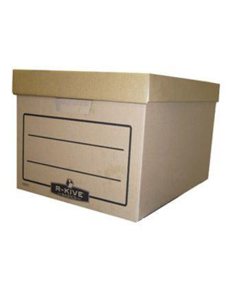 "Архивный короб R-Kive® ""Basics"" 340х450х275, гофрированный картон, крафт, фото 2"