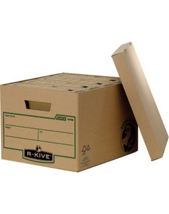 Архивный короб стандартный с крышкой, R-Kive® Earth Series, 325x260x375 мм, картон, крафт