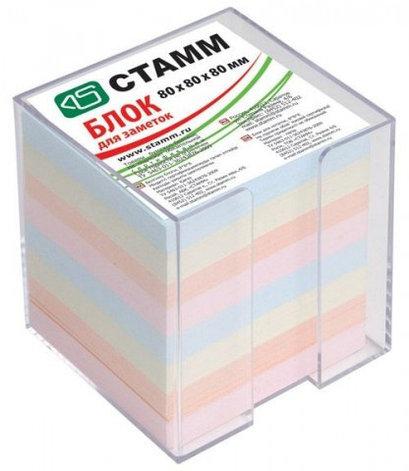 Блок бумаги для записи 8*8*8, цветной, в пластбоксе, прозрачный, фото 2
