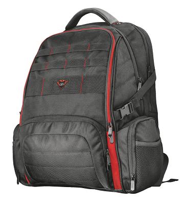 """Trust GXT 1250 Hunter Gaming Рюкзак геймерский 17,3"""" черно-красный"""