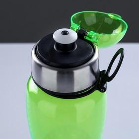 Бутылка для воды 750 мл, с соской, вставка металл на горле и дне, микс, 7.5х24 см - фото 2