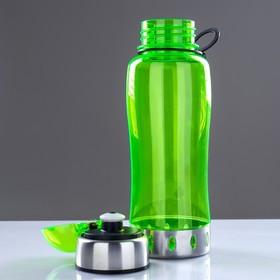 Бутылка для воды 750 мл, с соской, вставка металл на горле и дне, микс, 7.5х24 см - фото 3
