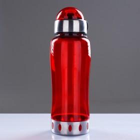 Бутылка для воды 750 мл, с соской, вставка металл на горле и дне, микс, 7.5х24 см - фото 4