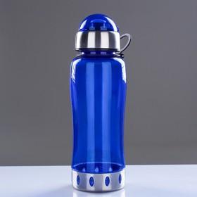 Бутылка для воды 750 мл, с соской, вставка металл на горле и дне, микс, 7.5х24 см - фото 5