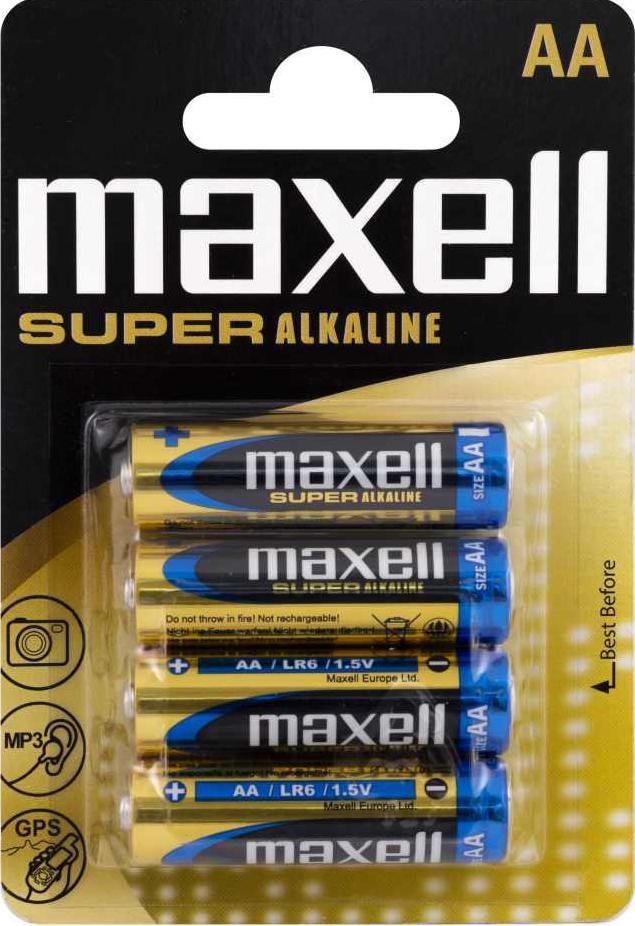 Батарейка  алкалиновая  Maxell  Super Alkaline AA blist