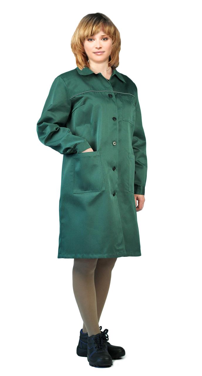 Халат женский рабочий темно-зеленый в Алматы
