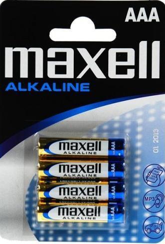 Батарейка алкалиновая   Maxell Alkaline AAA blist, 4шт