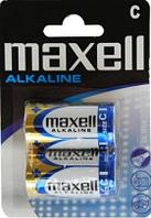 Батарейка  алкалиновая   Maxell Alkaline LR14, C 2шт blister.